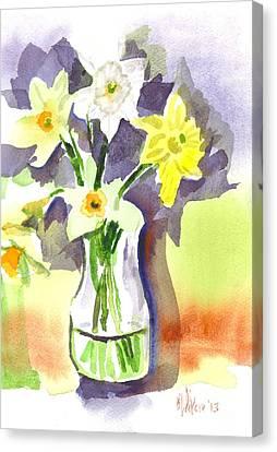 Interior Still Life Canvas Print - Spring Bouquet by Kip DeVore