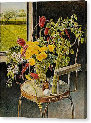 Canvas Print featuring the painting Spring Bouquet by Steve Spencer