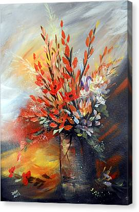 Canvas Print featuring the painting Spring Branches by Dorothy Maier