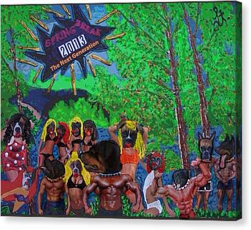 Canvas Print featuring the painting Spring Break 2013 by Lisa Piper