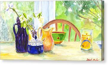 Spring Breakfast Canvas Print by Deborah Meyler