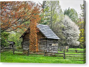 Spring Cabin I - Blue Ridge Parkway Canvas Print by Dan Carmichael