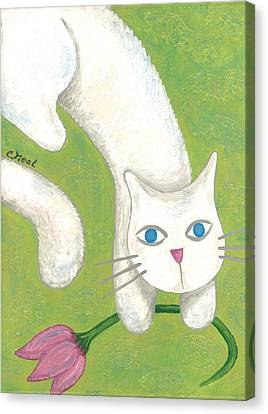 Spring Cat Canvas Print