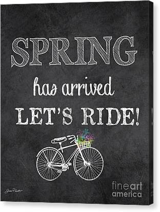 Spring Canvas Print - Spring Chalkboard Art-10 by Jean Plout