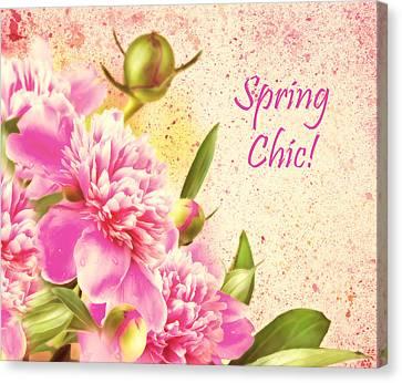 Spring Chic Canvas Print by Georgiana Romanovna