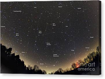 Spring Constellations And Star Colors Canvas Print by John Chumack