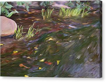 Spring Creek In Oak Canyon Park Canvas Print by Angela A Stanton