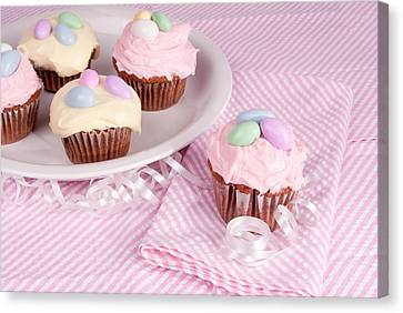 Cupcakes With A Spring Theme Canvas Print by Vizual Studio