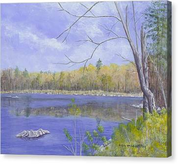 Nature Center Pond Canvas Print - Spring Day by Nan McCarthy