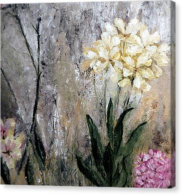 Canvas Print featuring the painting Spring Desert Flowers by Lisa Kaiser