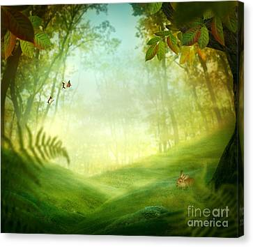 Spring Design - Forest Meadow Canvas Print by Mythja  Photography