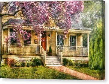 Spring - Door - Vacation House Canvas Print by Mike Savad