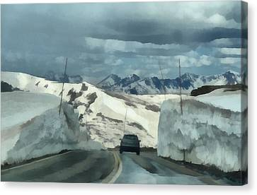 Spring Drive On Trail Ridge Road Canvas Print by Dan Sproul