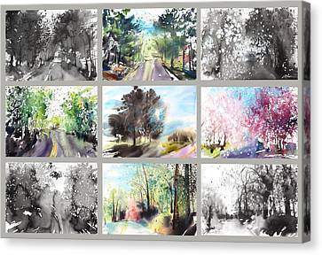 Spring Drive Canvas Print