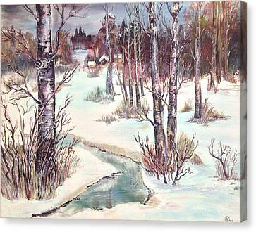 Spring Dusk Canvas Print by Iya Carson