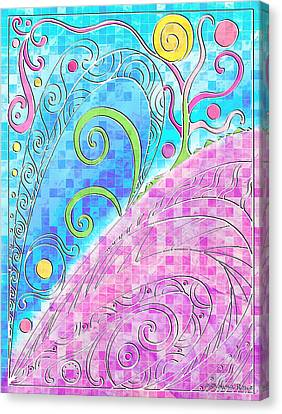 Spring Equinox Canvas Print by Shawna Rowe