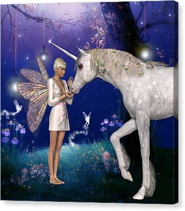 Spring Fae 3 Canvas Print by David Griffith