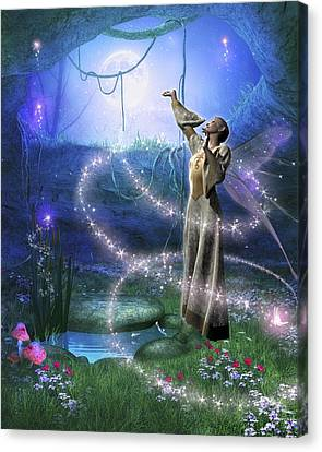 Spring Fae 9 Canvas Print by David Griffith