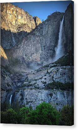 Spring Falls Canvas Print by Stuart Deacon