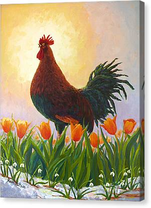 Canvas Print featuring the painting Spring Fever by Karen Mattson