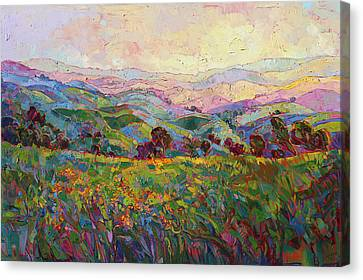 Canvas Print featuring the painting Spring Fling by Erin Hanson