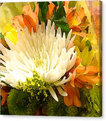 Spring Flower Burst Canvas Print by Amy Vangsgard