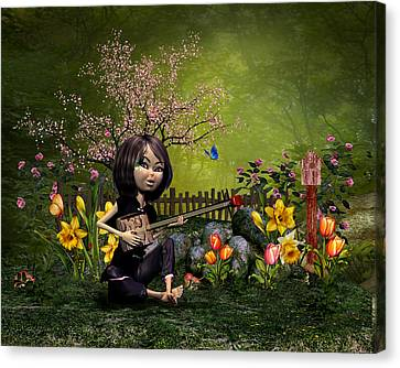 Spring Flowering Garden Canvas Print by John Junek