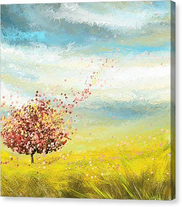 Spring-four Seasons Paintings Canvas Print by Lourry Legarde