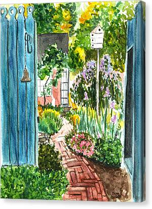 Canvas Print featuring the painting Spring Garden by Clara Sue Beym
