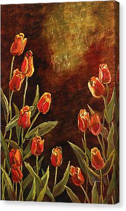 Canvas Print featuring the painting Spring Garden II by Vic  Mastis