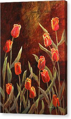 Canvas Print featuring the painting Spring Garden by Vic  Mastis