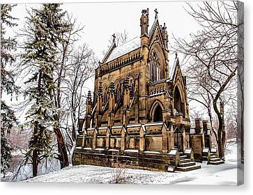 Spring Gove Mausoleum Canvas Print by Keith Allen