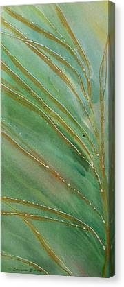 Canvas Print featuring the painting Spring Grasses by Susan Crossman Buscho