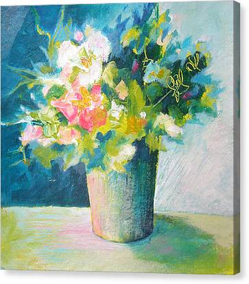 Spring Green Posy Canvas Print by Susanne Clark
