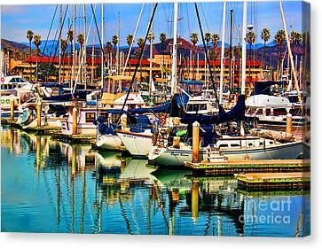 Spring Harbor Canvas Print by Mariola Bitner