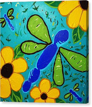 Spring Has Sprung Canvas Print by Yshua The Painter
