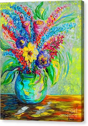 Spring In A Vase Canvas Print by Eloise Schneider