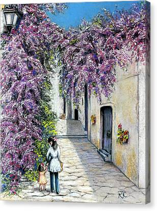 Spring In Andalucia Canvas Print by Rosemary Colyer