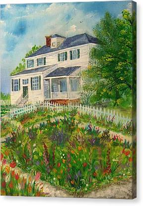 Spring In Colonial Williamsburg- Cole House Canvas Print