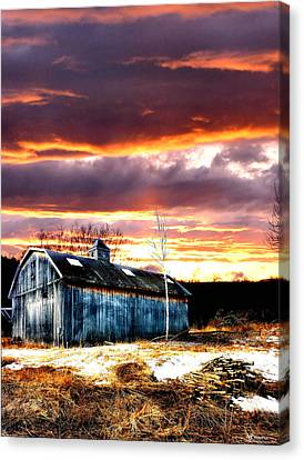 Spring In New England Canvas Print by Fred LaPoint