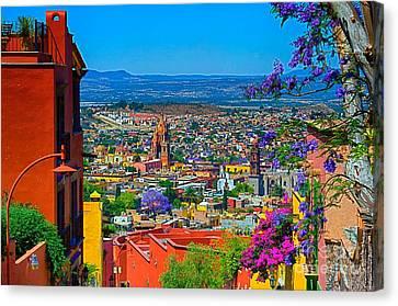 Spring In San Miguel De Allende Canvas Print