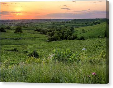 Canvas Print featuring the photograph Spring In The Flint Hills by Scott Bean