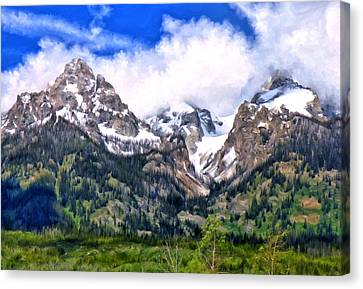 Spring In The Grand Tetons Canvas Print by Michael Pickett