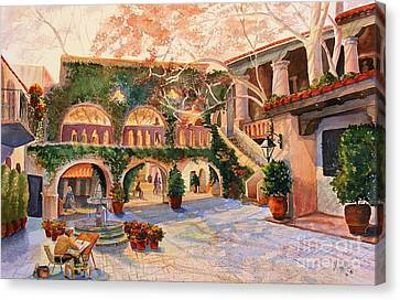 Southwest Landscape Canvas Print - Spring In Tlaquepaque by Marilyn Smith