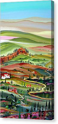 Spring In Val D Orcia Toscana Canvas Print by Roberto Gagliardi