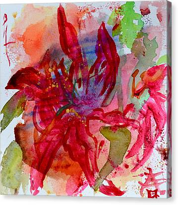 Spring Is A Messy Business Canvas Print by Beverley Harper Tinsley