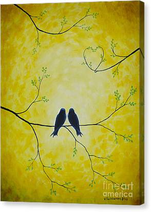 Black And Yellow Canvas Print - Spring Is A Time Of Love by Veikko Suikkanen
