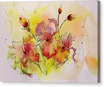 Loose Watercolor Canvas Print - Spring Is Coming by Laura Lee Zanghetti