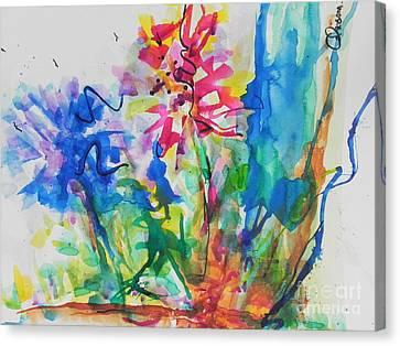 Spring Is In The Air Canvas Print by Chrisann Ellis