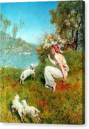 Spring Canvas Print by John Collier